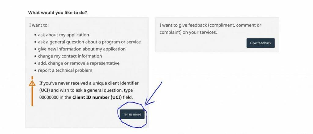CIC form web