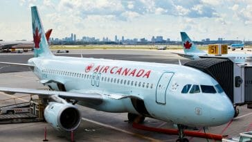 India to Canada flight