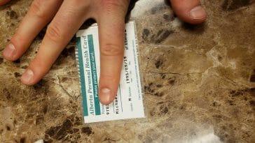 Alberta health care card